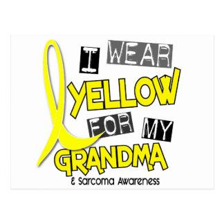 Sarcoma I WEAR YELLOW FOR MY GRANDMA 37 Postcards