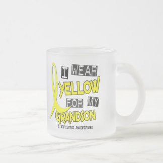 Sarcoma I WEAR YELLOW FOR MY GRANDSON 37 Frosted Glass Mug