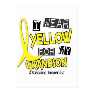 Sarcoma I WEAR YELLOW FOR MY GRANDSON 37 Postcard