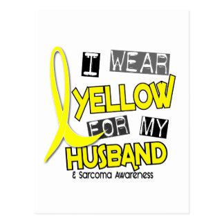 Sarcoma I WEAR YELLOW FOR MY HUSBAND 37 Postcard