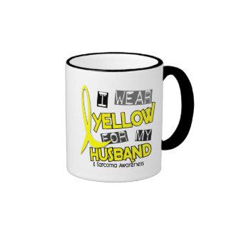 Sarcoma I WEAR YELLOW FOR MY HUSBAND 37 Ringer Mug