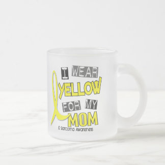 Sarcoma I WEAR YELLOW FOR MY MOM 37 Frosted Glass Mug