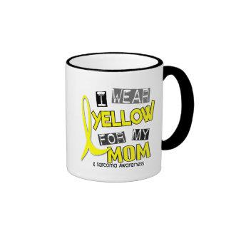 Sarcoma I WEAR YELLOW FOR MY MOM 37 Ringer Mug