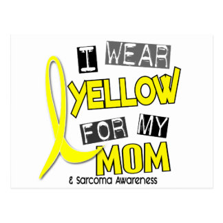 Sarcoma I WEAR YELLOW FOR MY MOM 37 Post Cards