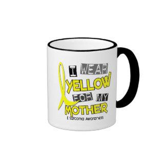 Sarcoma I WEAR YELLOW FOR MY MOTHER 37 Ringer Mug