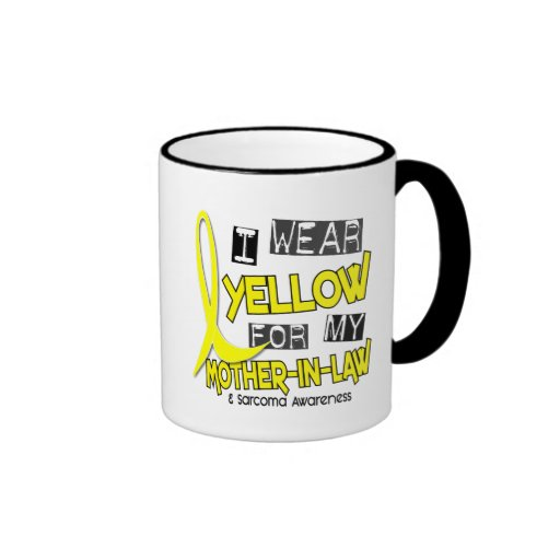 Sarcoma I WEAR YELLOW FOR MY MOTHER-IN-LAW 37 Coffee Mugs