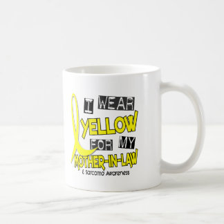 Sarcoma I WEAR YELLOW FOR MY MOTHER-IN-LAW 37 Classic White Coffee Mug