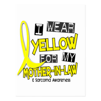 Sarcoma I WEAR YELLOW FOR MY MOTHER-IN-LAW 37 Post Card
