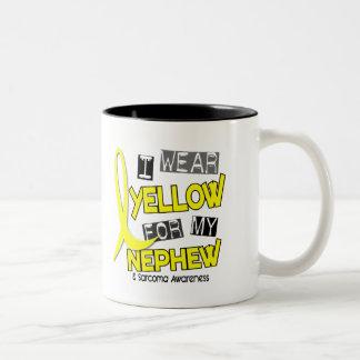 Sarcoma I WEAR YELLOW FOR MY NEPHEW 37 Two-Tone Coffee Mug