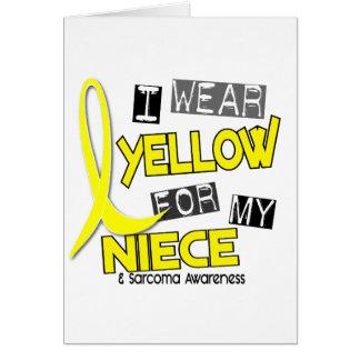 Sarcoma I WEAR YELLOW FOR MY NIECE 37 Greeting Card