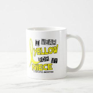 Sarcoma I WEAR YELLOW FOR MY NIECE 37 Basic White Mug