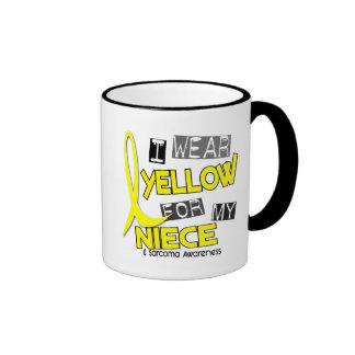 Sarcoma I WEAR YELLOW FOR MY NIECE 37 Ringer Mug