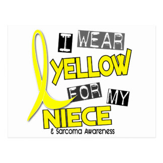 Sarcoma I WEAR YELLOW FOR MY NIECE 37 Postcard
