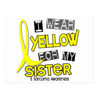Sarcoma I WEAR YELLOW FOR MY SISTER 37 Postcard