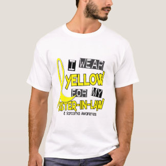 Sarcoma I WEAR YELLOW FOR MY SISTER-IN-LAW 37 T-Shirt