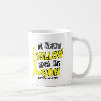 Sarcoma I WEAR YELLOW FOR MY SON 37 Basic White Mug