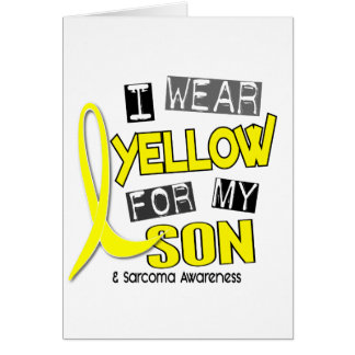 Sarcoma I WEAR YELLOW FOR MY SON 37 Greeting Cards