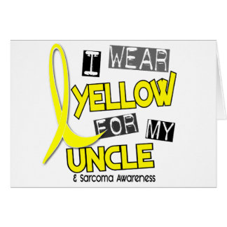 Sarcoma I WEAR YELLOW FOR MY UNCLE 37 Cards