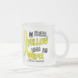 Sarcoma I WEAR YELLOW FOR MY WIFE 37 Frosted Glass Mug
