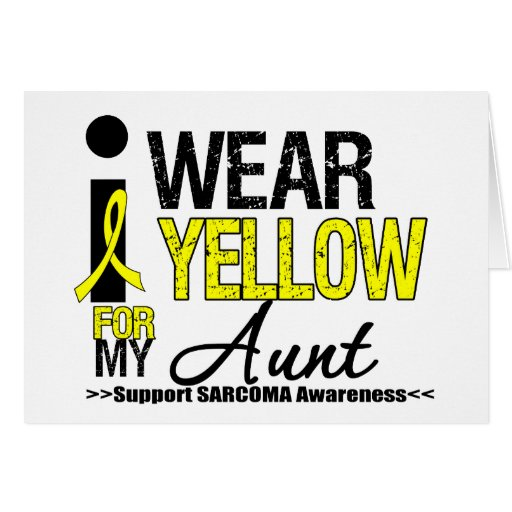Sarcoma I Wear Yellow Ribbon For My Aunt Greeting Cards