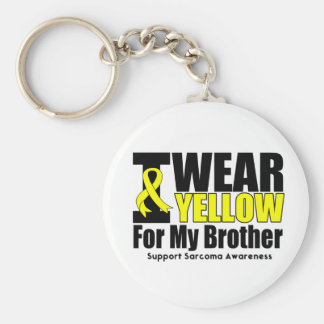 Sarcoma I Wear Yellow Ribbon For My Brother Key Chains