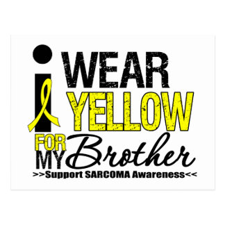 Sarcoma I Wear Yellow Ribbon For My Brother Postcard