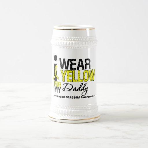 Sarcoma I Wear Yellow Ribbon For My Daddy Mugs