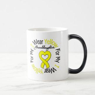 Sarcoma I Wear Yellow Ribbon For My Granddaughter Morphing Mug