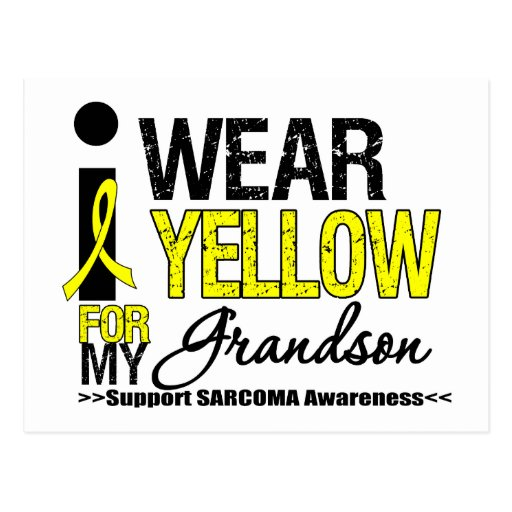 Sarcoma I Wear Yellow Ribbon For My Grandson Postcards