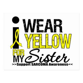 Sarcoma I Wear Yellow Ribbon For My Sister Postcard