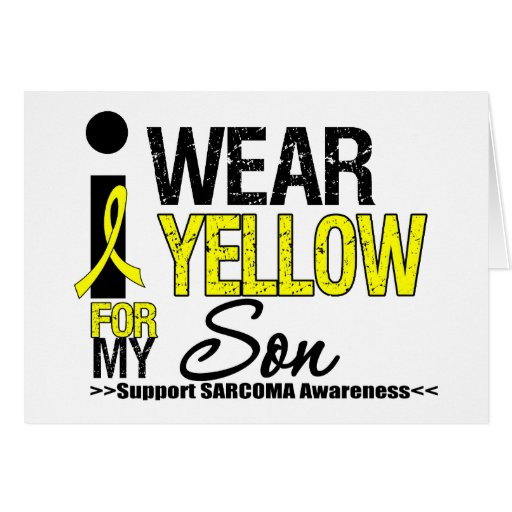 Sarcoma I Wear Yellow Ribbon For My Son Greeting Card
