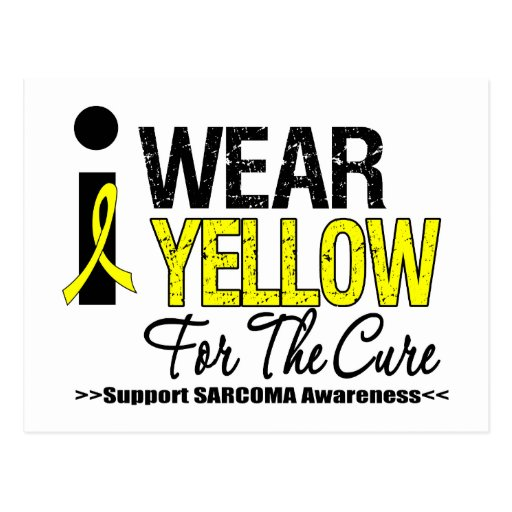 Sarcoma I Wear Yellow Ribbon For The Cure Postcard