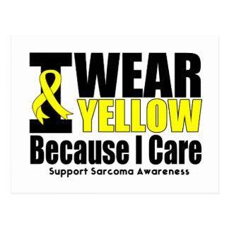 Sarcoma I Wear Yellow Ribbon I Care Postcard