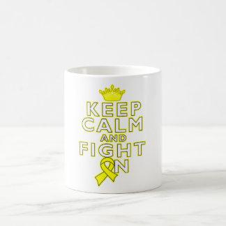 Sarcoma Keep Calm Fight On Basic White Mug
