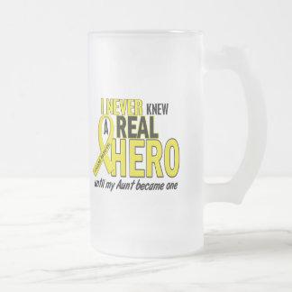 Sarcoma NEVER KNEW A HERO 2 Aunt Mugs