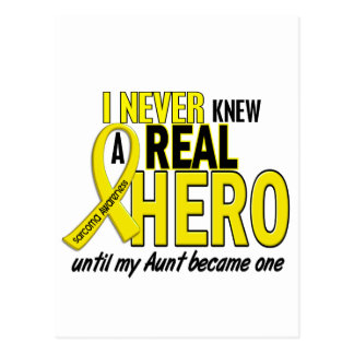 Sarcoma NEVER KNEW A HERO 2 Aunt Postcard