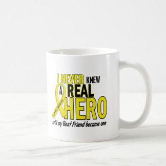 Sarcoma NEVER KNEW A HERO 2 Best Friend Basic White Mug