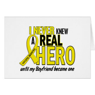 Sarcoma NEVER KNEW A HERO 2 Boyfriend Greeting Cards
