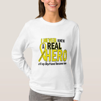 Sarcoma NEVER KNEW A HERO 2 Boyfriend T-Shirt