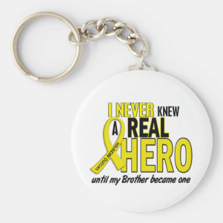 Sarcoma NEVER KNEW A HERO 2 Brother Basic Round Button Key Ring