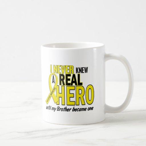 Sarcoma NEVER KNEW A HERO 2 Brother Mugs