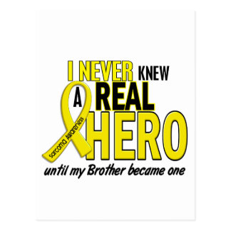 Sarcoma NEVER KNEW A HERO 2 Brother Postcard