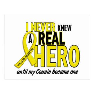 Sarcoma NEVER KNEW A HERO 2 COUSIN Postcard