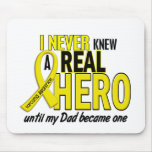 Sarcoma NEVER KNEW A HERO 2 Dad Mouse Mat