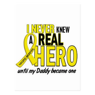 Sarcoma NEVER KNEW A HERO 2 Daddy Postcard
