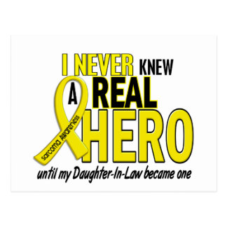 Sarcoma NEVER KNEW A HERO 2 Daughter-In-Law Postcards