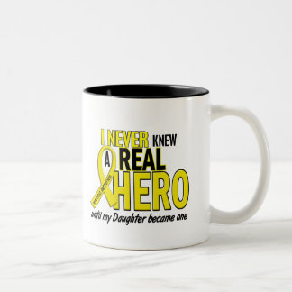 Sarcoma NEVER KNEW A HERO 2 Daughter Two-Tone Mug