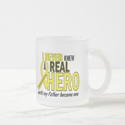 Sarcoma NEVER KNEW A HERO 2 Father Mug