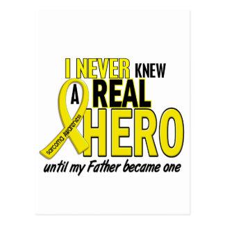 Sarcoma NEVER KNEW A HERO 2 Father Postcard