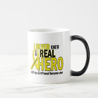 Sarcoma NEVER KNEW A HERO 2 Girlfriend Coffee Mugs